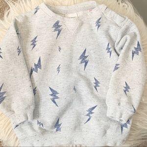Zara Baby Boy grey lighting bolt sweater Size 3/4